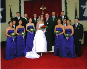 Wedding Party in Sanctuary